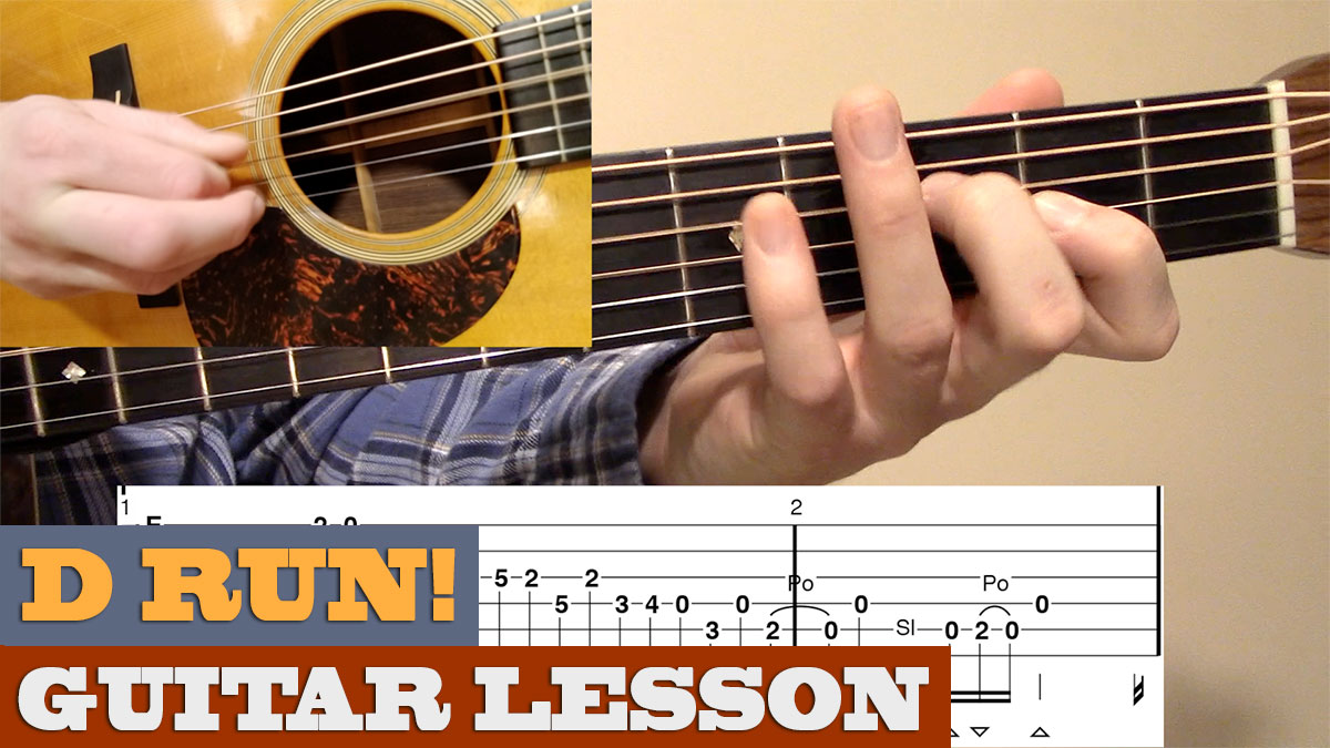 d run quick lesson bluegrass guitar lesson with tab brandon johnson guitar. Black Bedroom Furniture Sets. Home Design Ideas